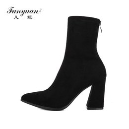 $enCountryForm.capitalKeyWord Australia - fanyuan Women Ankle Boots Fashion Women Shoes Platform back zipper All Match Winter Shoes Sock Boots Women Boots Size 34-39