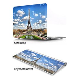 hard shell case for laptops UK - Eiffel Tower Pattern Hard Plastic Protective Case for 11 12 13 15 inch Macbook Air Pro Retina Rubberized PC Cover Shell with keyboard cover