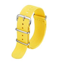 $enCountryForm.capitalKeyWord Australia - 18mm 20mm Watchband Men Women Sport Nato Fiber Woven Nylon Watch Strap Wristwatch Bands Silver Buckle 18 20 mm for Watches KZN02