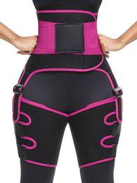 Wholesale 3-in-1 High Waist Trainer Thigh Trimmer Hip Enhancer Yoga Fitness Weight Butt Lifter Slimming Support Belt Hip Enhancer Shapewear for Women