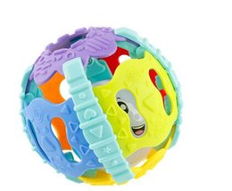 jingles bells UK - Baby Rattle Rolling Hand soft shaking Bell ball kids Funny Loud Gym Jingle Shaking Ball Bell