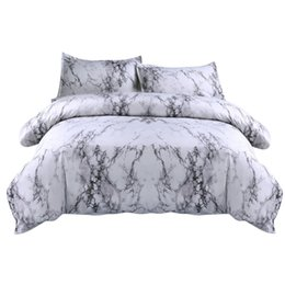 Chinese  Sheet +2Pillowcase Simple Marble Bedding Duvet Cover Set Quilt Cover Twin King Size With Pillow Case Gray Bedding Set New F22 manufacturers
