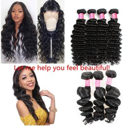 $enCountryForm.capitalKeyWord Australia - 2019 Fashion Unprocessed Brazilian Kinky Straight Body Loose Deep Wave Curly Hair Weft Human Hair Extensions Dyeable J83