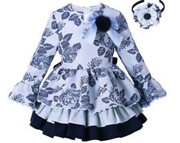 55d5227848a9 Pettigirl Blue Grace Flower Girls Vintage Dress Spring And Autumn Children  Clothes Casual Wear For Kids G-dmgd008-b98-958 J190505