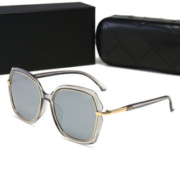 Circular Case Australia - 22021 Luxury Sunglasses Large Frame Elegant Special Designer With Rivets Frame Built-In Circular Lens Top Quality Come With Case