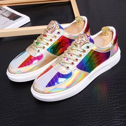 ShoeS for driving online shopping - Mixed color shining Men brand designer shoes Luxury designer dress shoes Causal Flats wedding party shoe loafers Driving shoes For Man
