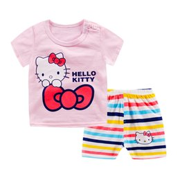 a07700f0b Kids Clothes Hello Kitty Australia - LYTLM Hello Kitty Girls Outfits  Jongens Kleding Girls Clothing Summer