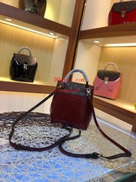 $enCountryForm.capitalKeyWord NZ - 2019 New handbags purses listing women shoulder Bags charming gorgeous Popular exquisite Patent leather with old flowers