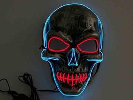 $enCountryForm.capitalKeyWord Australia - Led Mask Led Light Halloween Masquerade Masks Glowing Ghost Skull Mask Dancing Full Face Mask Hallowmas Party Supplies