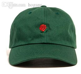 flowers blue Australia - Wholesale-Green Pink Black Navy Khaki Sky Blue THE HUNDREDS Flower Rose Embroidery Curved Summer Snapback Baseball Cap trapback Hip Hop