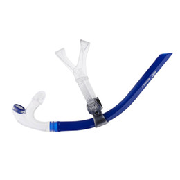 Diving Swimming Adjust Silicone Gel Center Snorkel Set Breathing Tube Holder on Sale
