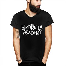 Umbrellas men online shopping - Round Collar Umbrella Academy White Summer New T Shirt For Male High Q Quality Cotton Camiseta US Size S XL
