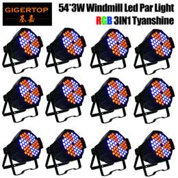 $enCountryForm.capitalKeyWord Australia - TIPTOP 12 units 54x3W RGB 3IN1 Windmill Effect Rotation Led Par Light Color Changing Play DMX Control Sound Music Play 110v-220v