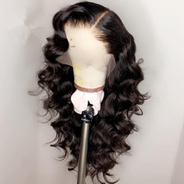 front lace wig ponytail UK - 360 Lace Frontal Wigs Peruvian Water Wave 360 Lace Front Human Hair Wigs Pre Plucked Natrual Hairline Remy Can Do Ponytail 130 density