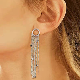 women sexy fairy costume Australia - 2019 New Brand Long Crystal Tassel Earrings For Women High Quality Silver And Sweet Girl Earring For Dance Party