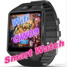 Reloj Android Gps Australia - QW09 wifi smart watch PK DZ09 bluetooth 3G reloj android 4.4 MTK6572 RAM 512MB+ROM 4GB Smartwatch Para Android ios