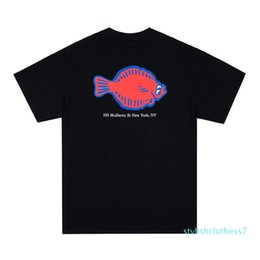 shirts shops UK - 20SS Flounder Shop Tee Printing Short Sleeve Tee Casual Fashion Cotton Shorts Mens And Women Couple Designer T-Shirt S-XL t01s07