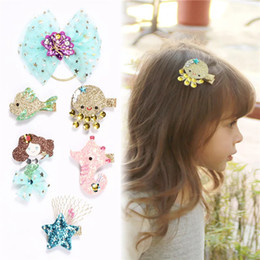 Artificial Hair Clips Australia - Free DHL Shipping Girl Hair Clips jojo siwa bows baby Hairclips kids designer Hair Accessories Cartoon Fish Barrettes Baby Designer Hairpins
