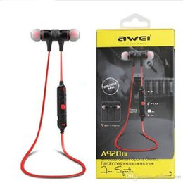 Discount fashion color headset - Original Wireless Stereo Earphone Fashion Sport Running Headphone Studio Music Headset Awei A920bl For Iphone7 6 5