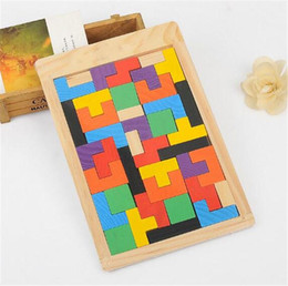 intellectual puzzle block NZ - Wooden Tetris Puzzle Jigsaw Intellectual Building Block and Training Toy for Early Education Children wood intellegence Toys