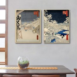 Discount japanese art styles - Japanese Traditional Landscape Poster Canvas Art Print , Japanese Style Canvas Painting Wall Picture Home Wall Decor