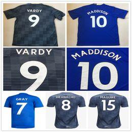 2018 2019 MADDISON Soccer Jerseys VARDY GRAY IHEANACHO MAGUIRE NDIDI MORGAN  OKAZAKI Custom Home Away Blue Grey 18 19 Football Shirts cea37eba7
