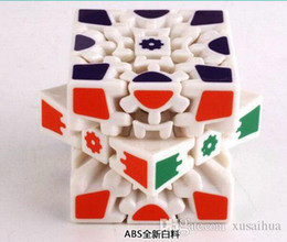 3d gear cube NZ - Wholesale 3D Cube Puzzle Magic Cube 3 x 3 x 3 Gears Rotate Puzzle Sticker Adults Child's Educational Toy Cube