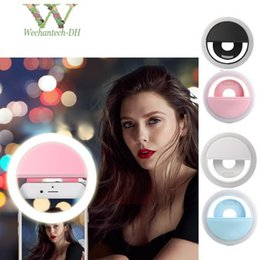 portable flashes UK - 2019 New USB Charge Selfie Portable Flash Led Camera Phone Photography Ring Light Enhancing Photography For iPhone Smartphone