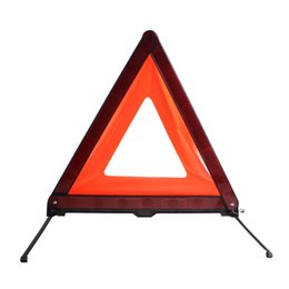 reflective road signs NZ - Car Triangle Emergency Warning Sign Foldable Reflective Safety Roadside Lighting Stop Sign Tripod Road Flasher