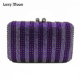 bags for cell phones christmas UK - Luxy Moon Evening Bag Diamond Beaded Rhinestones Women's Purse Wedding Wallet Clutch Bags for Women's Handbag Shoulder Bag ZD847