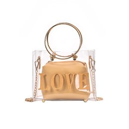 $enCountryForm.capitalKeyWord UK - Women PVC Clear Bag Satchel Bag Fashion Transparent Shoulder Crossbody Bags Ladies Messenger Casual Shopping Small Handbags J4