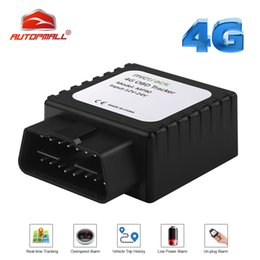 gps tracker voice monitoring Australia - 4G OBD II Tracker GPS Locator FDD LTE Real-time MP90 Voice Monitor Easy Install OBD Plug Connector GPS Tracker Car Free Web APP
