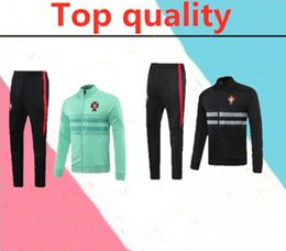 Wholesale army suits black for sale - Group buy 2020 portugal RONALDO adult soccer tracksuit RONALDO Training suit long pants football training clothes sportswear tracksuit