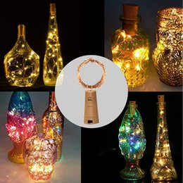 $enCountryForm.capitalKeyWord Australia - 50PCS Included Batteries 1M 10LED 2M 20LED Wine Bottle Cork String Led Light Waterproof Starry Lamps for Christmas Party Wedding Decorations