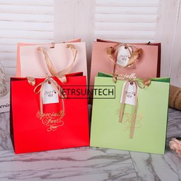 $enCountryForm.capitalKeyWord Australia - High Quality Paper Gift Bag With Handle Wrapping Package Festival Jewelry Wedding Party Recyclable Bags Birthday Supplies