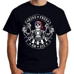 $enCountryForm.capitalKeyWord NZ - Velocitee Mens T-Shirt Ride Free Or Die American Chopper Bobber Biker A21650