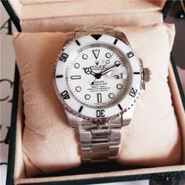 Venda quente Cerâmica Bezel Novo GMT Mens Relógios de Aço Inoxidável Mecânico Movimento Automático Assista Esportes Auto-vento Relógios de Pulso Luminoso ro002