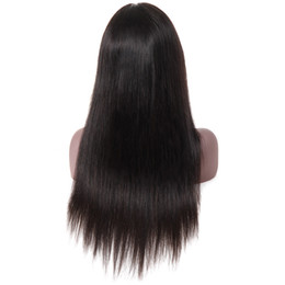 virgin swiss lace wig NZ - Emilee 100% Human Virgin Hair Straight Wave Human Hair Wigs 360 Swiss Lace Wigs Brazilian Non Remy Hair