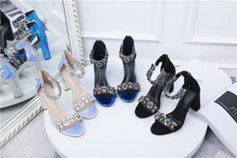 Discount glitter silver prom heels Women Designer Sandals Glitter Sequined Suede Leather Ankle Strap High Platform Round toe Pumps Party Prom Gown Wedding