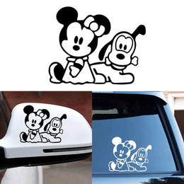 14 mirror UK - 14*12CM cute cartoon pets classcial old style car sticker CA-2004
