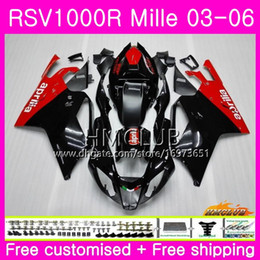 $enCountryForm.capitalKeyWord NZ - Body For Aprilia RSV1000R Mille RSV1000 R RR 03 04 05 06 Bodywork Red black 38HM.2 RSV1000RR RSV 1000 2003 2004 2005 2006 03 06 Fairing