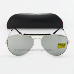 Yellow beach glasses online shopping - new protection High Quality Vassl MEN sport Silver Mirrror glass Lens Sun glasses beach sunglasses UV protection sunglasses free ship