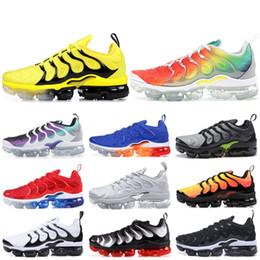 c7e04e65b New TN Plus Running Shoes Bumblebee Rainbow Ultra White Black Tropical  Sunset Men Women Designer Shoes Fashion TN Sport Shoes