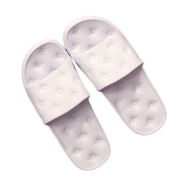 Eva Sole Flip Flops UK - New Women's Slippers Bathroom Flip Flops Women Men Beach Shoes Sandals Non-slip Slippers for Lover Female Flat Soft Sole Sandals
