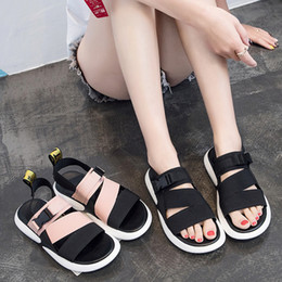 $enCountryForm.capitalKeyWord Australia - Fashion Summer Platform Sandal 2018 Flat With Solid Open Toe Women Sandals Shallow Designer Shoes Y19070203