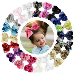 8cm barrette UK - Small Hair Bow Clips Sequense bow 8cm 3.14inch hair Bows Hairbands Girls Teenagers barrettes Hair Unicorn party hairbands