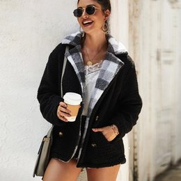 $enCountryForm.capitalKeyWord Australia - 2019 Winter Teddy Coat Women Faux Fur Plaid Coat Teddy Bear Jacket Thick Warm Fake Fleece Jacket Fluffy Jackets Overcoat