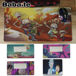 Wholesale Babaite Simple Design Rick And Morty Customized Computer Laptop Anime Mouse Mat Unique Desktop Pad Game Lockedge Mousepad
