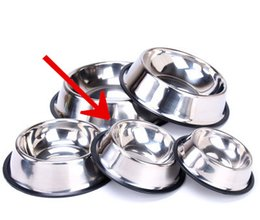 $enCountryForm.capitalKeyWord Australia - Stainless Steel Dog Bowl Pet Bowl Portable Cats dogs great for water and food Home Outdoor