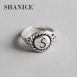 $enCountryForm.capitalKeyWord NZ - SHANICE Do Old 100% 925 Solid Silver INS Simple letter S Open Ring Fashion 925 Rings Sizable Finger Jewelry Gift For Women Girls